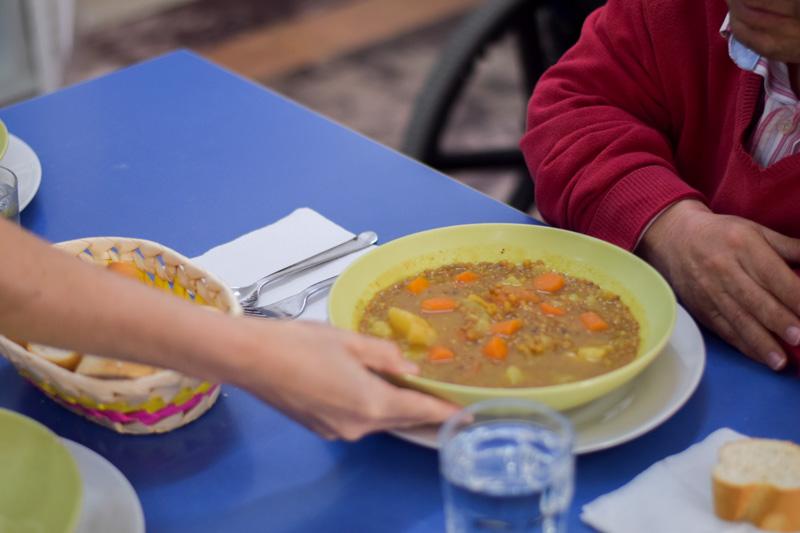 Alimentación sana en la Residencia en Sevilla Aurora