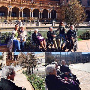 Actividad fuera del geriatrico residencia Aurora en Sevilla